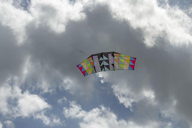 Kite, Sky, Clouds, Wind, Kites, Freedom, Games, Color