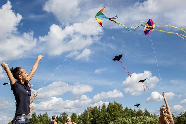 Kite, Kids, Girl, Smiles, Joy, Sky, Cute, Emotions