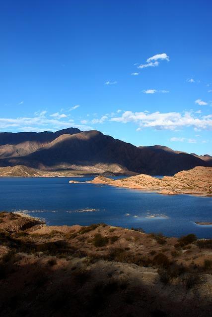 Mountain, Sky, Water, Landscape, Nature, Dam, Cloud