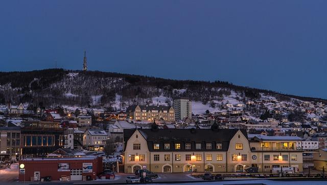 Norway, Tromso, Architecture, Dark, Outdoors, Sky