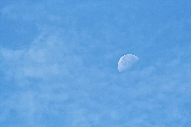Sky, Moon, Background, Delicate