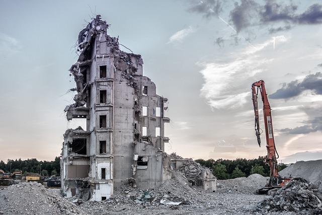Architecture, Sky, Building, Demolition, Masonry