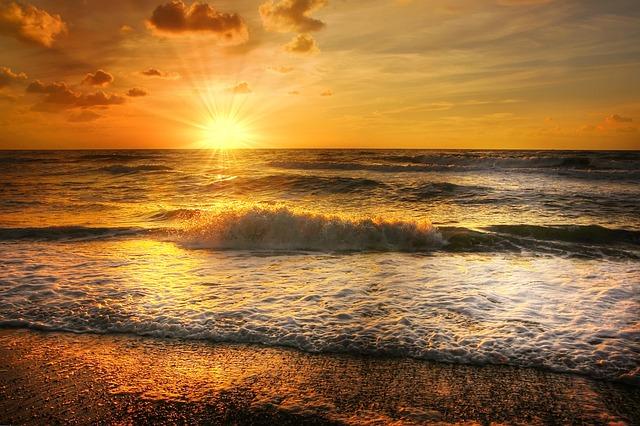 North Sea, Denmark, Beach, Sky, Coast, Sea