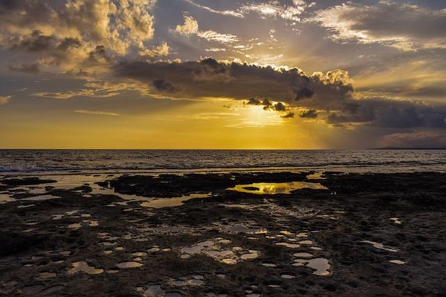 Sunset, Sea, Dusk, Sky, Clouds, Dramatic, Nature