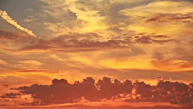 Sunset, Evening Sky, Atmospheric, Nature, Clouds, Sky