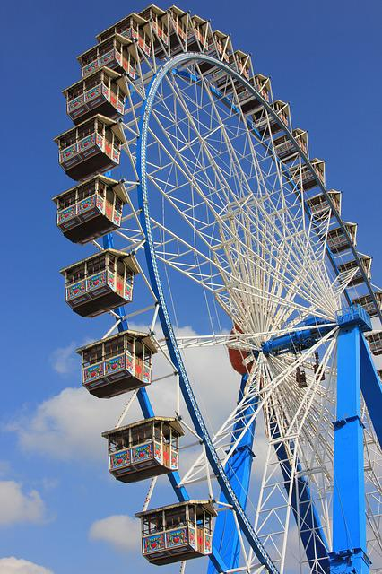 Ferris Wheel, Entertainment, Sky, Architecture