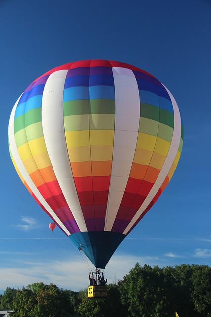 Hot Air Balloon, Sky, Flying