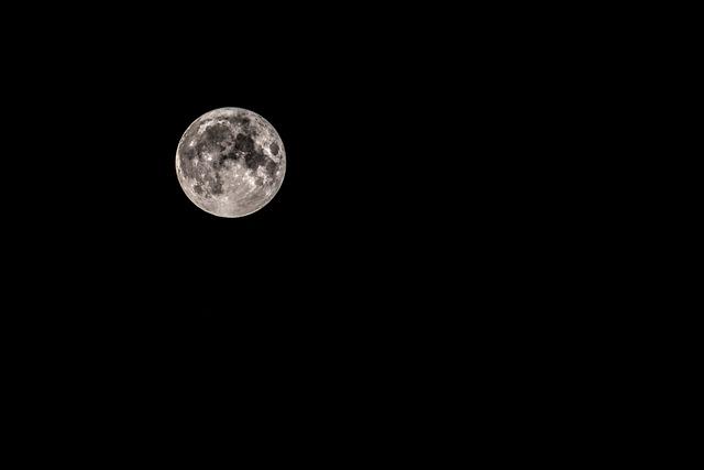 Moon, Night, Space, Full Moon, Sky, Night Photograph