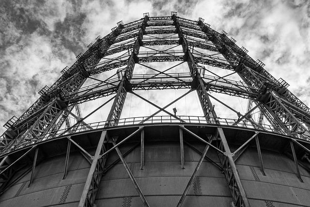 Gas Storage, Sky, Steel, Architecture, Structure