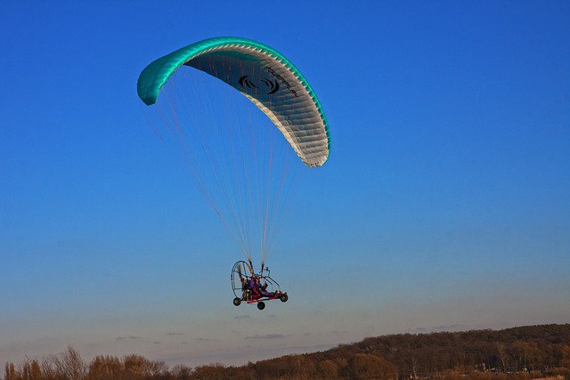 Hang Glider, Flying, Sky, View
