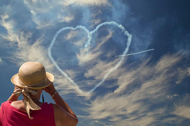 Heart, Sky, Heaven, Airshow, The Viewer, Clouds, Blue