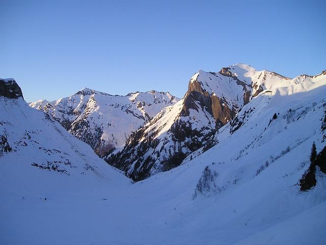Winter, Mountains, Alpine, Sky Horn, Rädlergrat, Snow