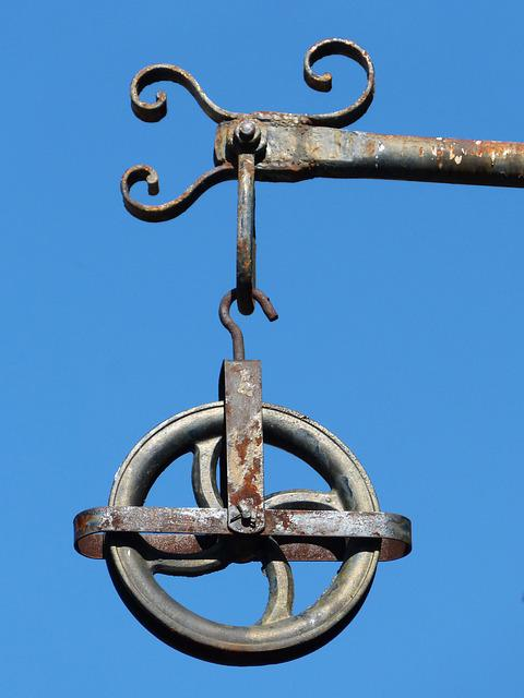 Pulley, Iron, Forging, Sky, Oxide