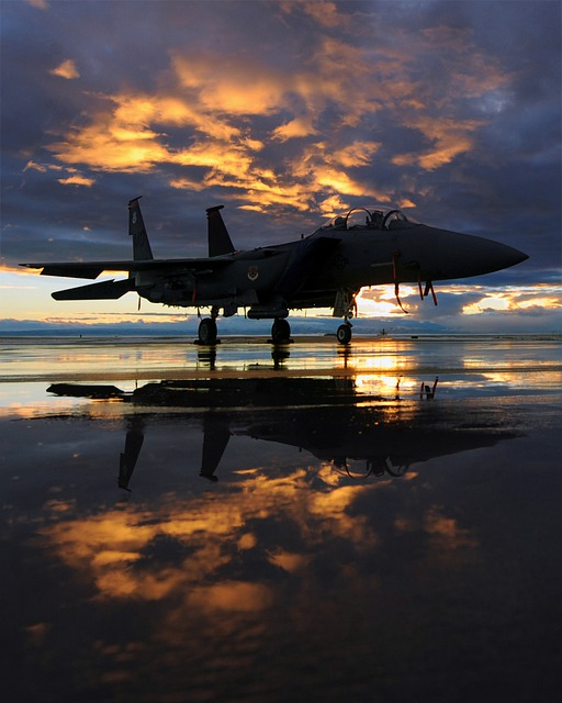 Aircraft, Jet, Fighter, Air Force, Sky, Clouds, Sunset