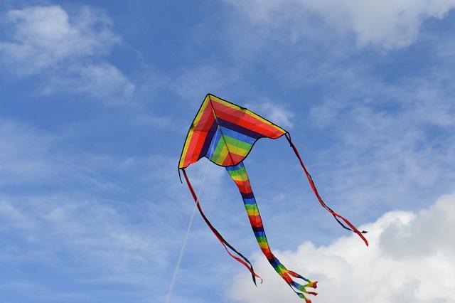 Kite, Blue, Sky