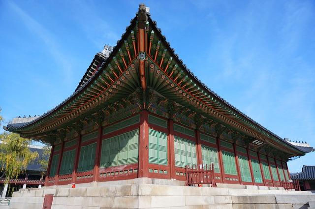 Gyeongbok Palace, Palace, Palaces, Sky, Korea Culture
