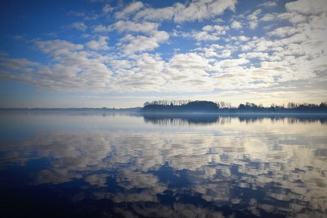 Lake, Sky, Clouds, Mirroring, Water, Bad Zwischenahn