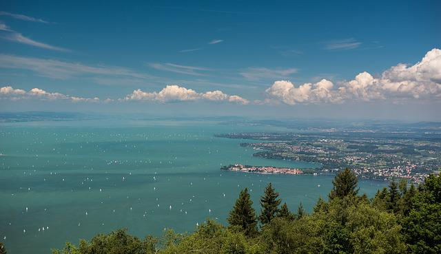 Lake Constance, Lindau, View, Sailing Boats, Sky, Water