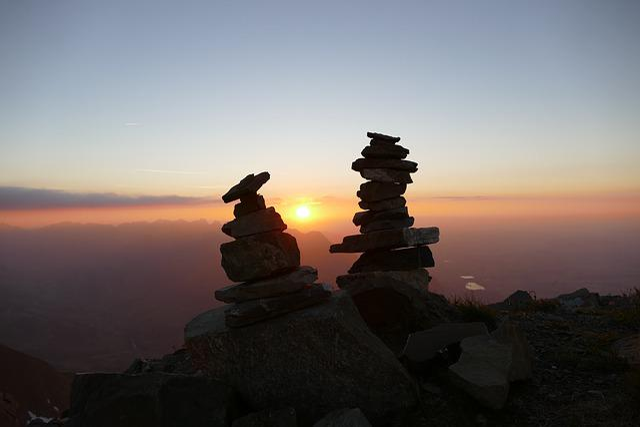Sunset, Sky, Dawn, Landscape, Dusk, Mountain, Panorama
