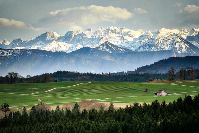 Panorama, Mountain, Landscape, Nature, Sky, Alpine