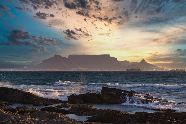 Sunset, Table Mountain, Landscape, Sky, Travel, Nature