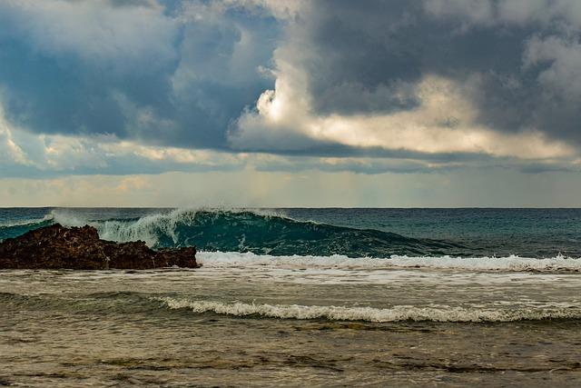 Rocky Coast, Sea, Wave, Splash, Nature, Landscape, Sky