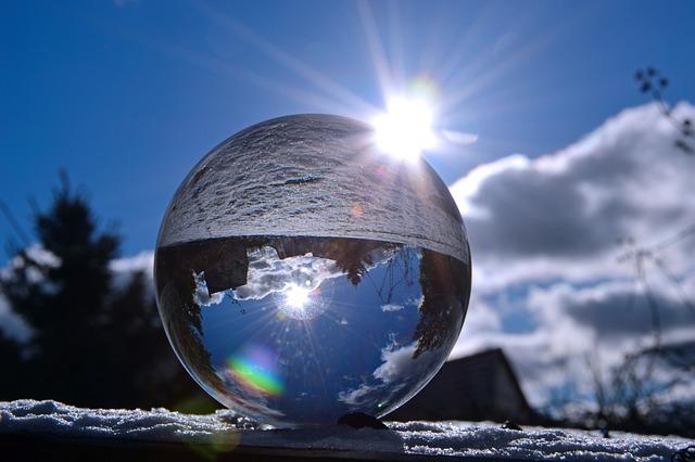 Glass Ball, Ball, Sun, Light, Sky, Lighting, Sunbeam