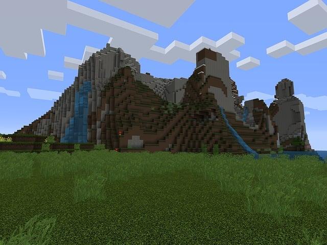 Minecraft, Video Game, Play, Mountains, Mountain, Sky