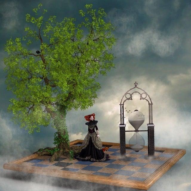 Tree, Hourglass, Chess Board, Mood, Princess, Sky