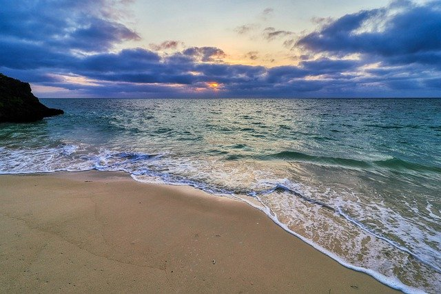 Sea, Sky, Natural, Landscape, Cloud, Beach, Sunset