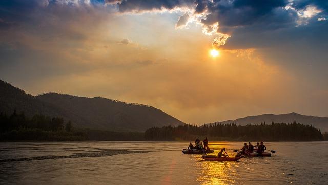 River, Sunset, Nature, Sky, Evening, Clouds, Sun