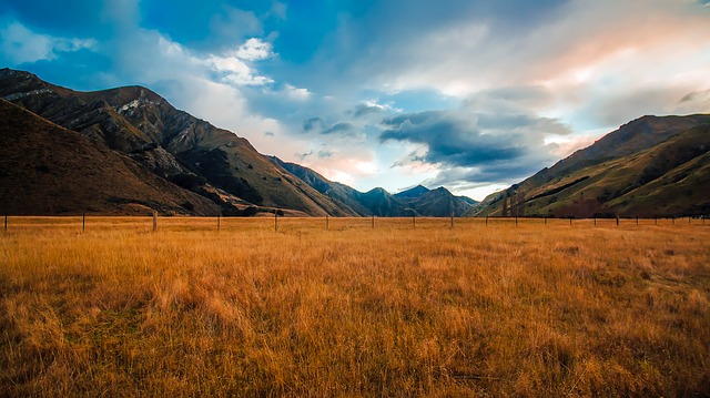 New Zealand, Mountains, Sky, Clouds, Landscape, Scenic
