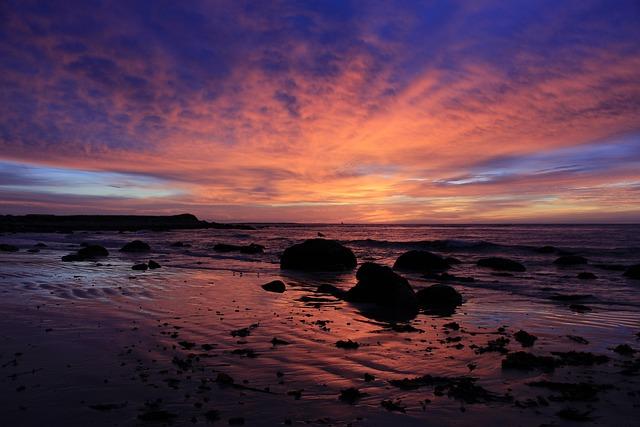 Sunrise, Beach, Ocean, Sea, Sky, Sand, Coast, Horizon