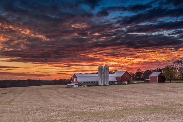 Sunset, Sky, Landscape, Panoramic, Nature