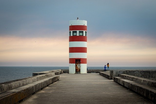 Lighthouse, Porto, Portugal, Sea, Water, Sky, Landscape