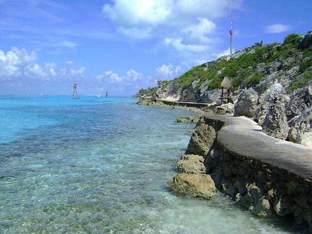 Punta Sur, Cozumel, Mexico, Sky, Clouds, Sea, Ocean
