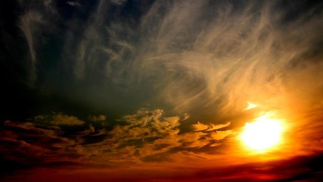 Sun, Sunset, Sky, Cloud, Red