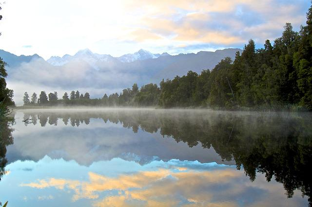 Reflection, Water, Forrest, Woods, Sky, Lake