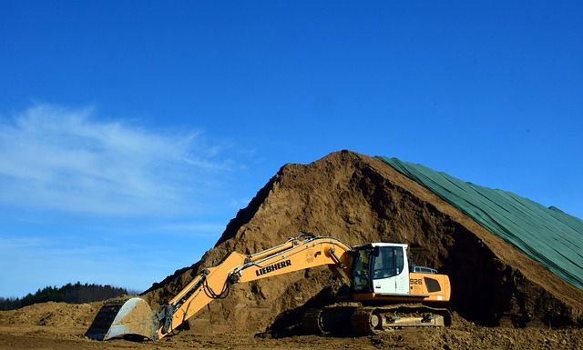 Excavators, Clay, Open Pit Mining, Sky, Work, Removal