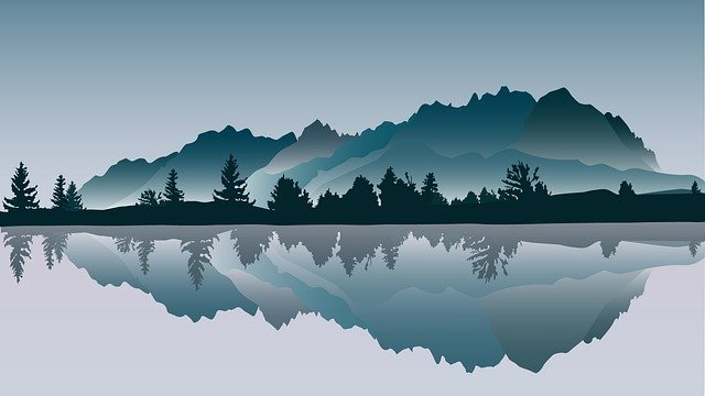 Trees, Lake, Forest, River, Sky, Beach, Countryside