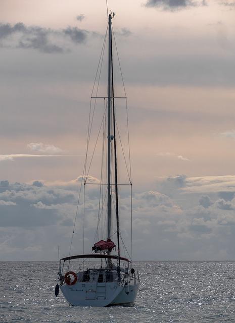 Body Of Water, Sea, Ocean, Boat, Sailboat, Ship, Sky