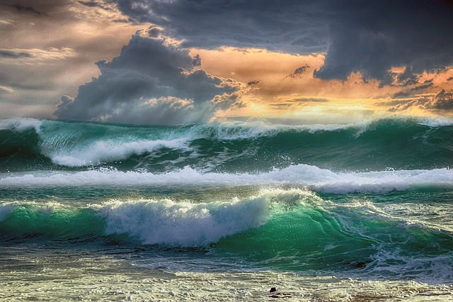 Sea, Waves, Sky, Clouds, Ocean, Costa, Landscape