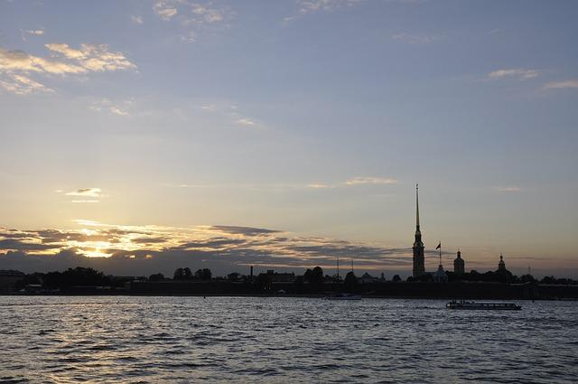 Sky, St Petersburg Russia, Architecture, Neva