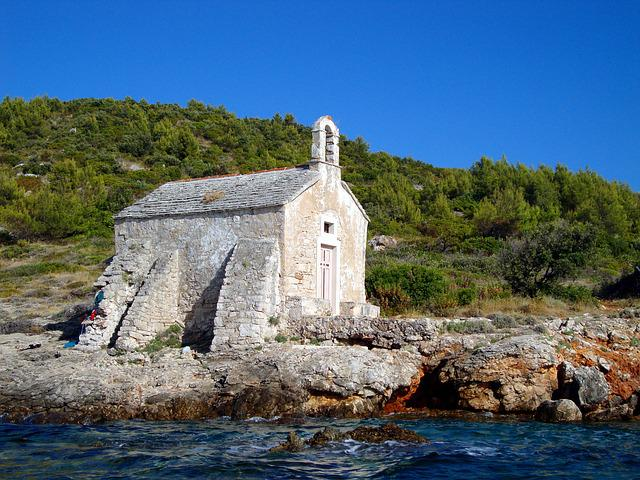 Sea, Sun, Chapel, Beach, Nature, Water, Sky, Sunny