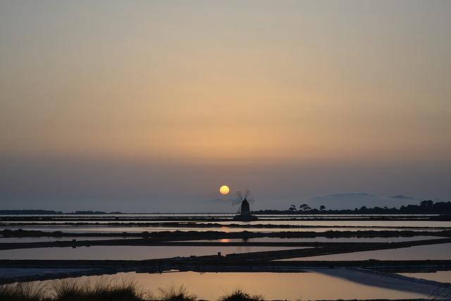 Mill, Sunset, Sky, Sun