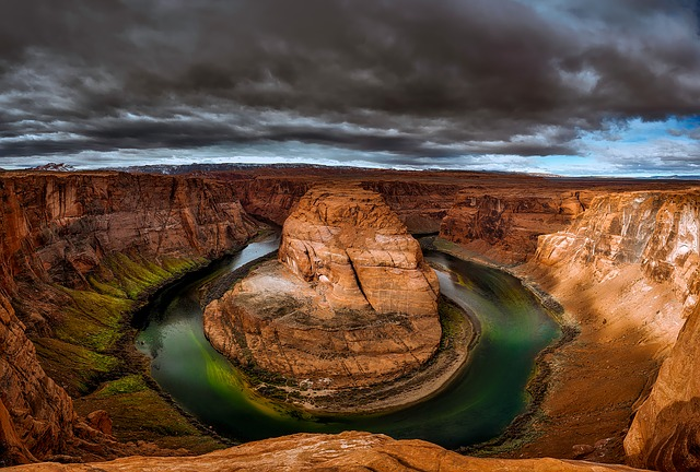 Powell Lake, Arizona, Glen Canyon, Sky, Clouds, Sunset