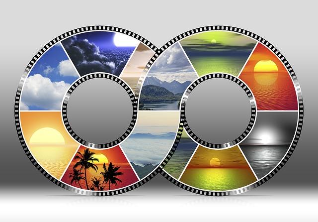 Sky, Photo Montage, Sunset, Film Strip