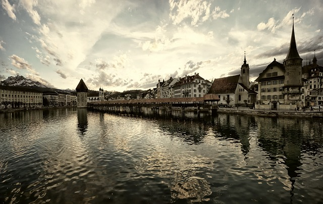 Lucerne, Switzerland, City, Sky, Water, Lake