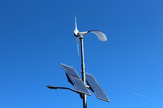 Solar Battery, Sky, Blue, Wind, Technology