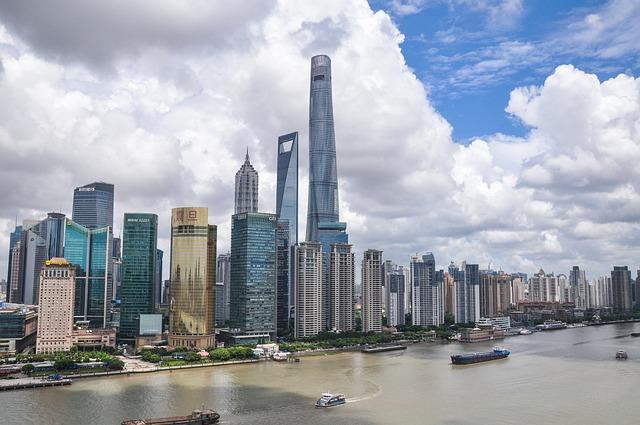 Shanghai, Sky, Building, Street, The Bund, The Scenery